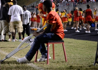 CCHS senior running back Rodney Willingham will not play for the remainder of the season after sustaining an ankle injury during practice. Photo by Porter McLeod.