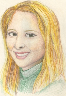 A rendering of Eve Carson drawn shortly following her death. Drawing by Emily Silva.