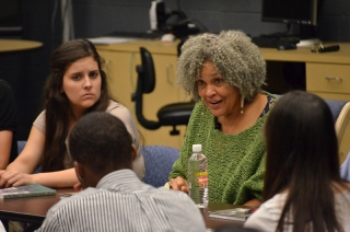 Local high school students were able to attend A Conversation with Charlayne Hunter-Gault on March 28 at the University of Georgia's Grady College of Journalism and Mass Communications, where she discussed her experiences while writing her newest book. Photo by Carlo Nasisse.