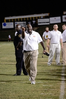CCHS head football coach Leroy Ryals at a football game on Oct. 5, 2012